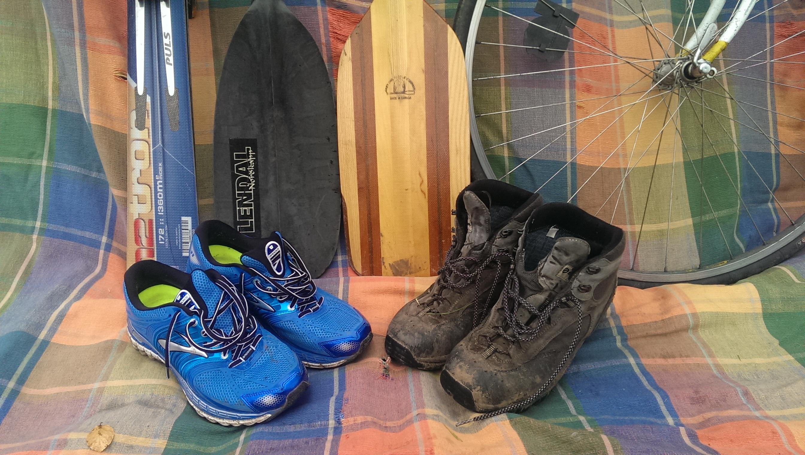 Walk, run, cycle, ski, canoe and kayak
