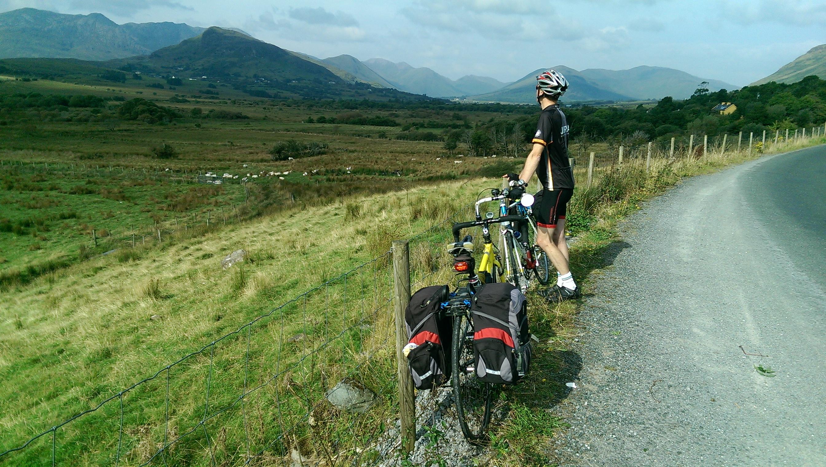 Time out to look at the Connemara mountains in County Galway